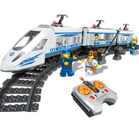 QL0303 City Series The High Speed Passenger Train Remote Control Figure Blocks Construction Building Bricks Toys For Children