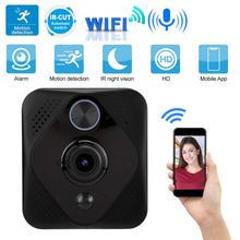 Camera Doorbell Wifi 720P Smart Wireless 166 Wide Angle PIR Security Video Alarm