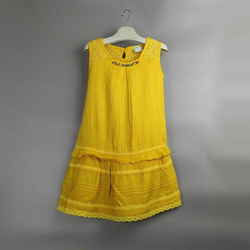 Girls Dress Net Color Cotton Children's Dress Lace Girl Child Dress Baby Girl Beaded Princess Dress