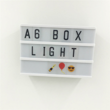 A6 Size LED Cinematic Light Box Night Lamp With DIY  Black Letters Card AA Battery Powered Cinema Lightbox For Wedding Led