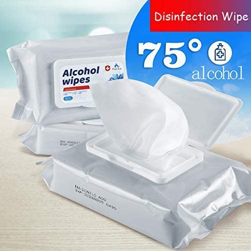 Alcohol Detergent Wipes For Adult Large Handi-Pack Wet Wipes, 75% Super Soft Alcohol Wipes For All-Purpose Cleaning