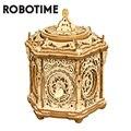 Robotime 315 stücke DIY 3D Geheimnis Garten Holz Puzzle Spiel Montage Musik Box Spielzeug Geschenk für Kinder Kinder Erwachsene AMK52
