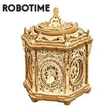 Robotime-rompecabezas de madera en 3D para niños y adultos, 315 Uds., DIY, Jardín Secreto, juego de ensamblaje, caja de música, juguete para regalo