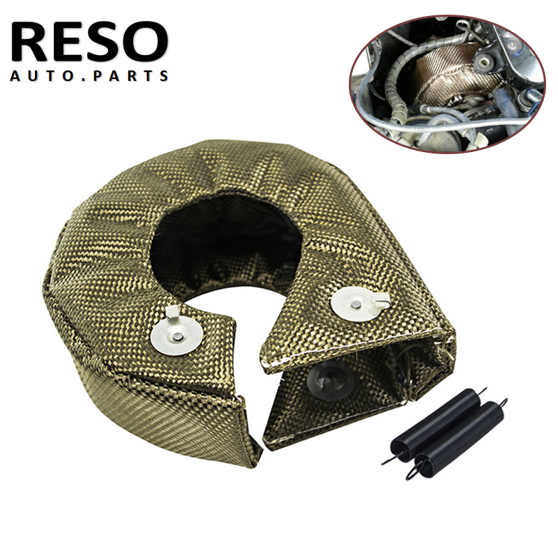 RESO - <font><b>Turbo</b></font> heat shield <font><b>T3</b></font> <font><b>turbo</b></font> <font><b>blanket</b></font> fit for t2 t25 t28 gt28 gt30 gt35 and most <font><b>t3</b></font> <font><b>turbo</b></font> 100% Full TITANIUM image