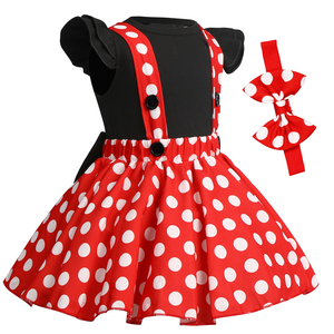 Image 3 - Cute Baby Girl Clothes Set Minnie Dress Cake Smash Outfit Girl Baby Birthday Clothes Suspender Girls Clothes for Photo Shoot
