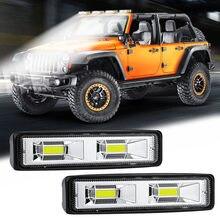 1 Pair Car SUV LED Bar Work Driving Fog Light 12V 24V Daytime Running Spotlight Off-Road 4000LM White LED Work Lights(China)