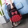 Новая детская школьная сумка Disney с Микки Маусом, Детский рюкзак для мальчиков и девочек, плюшевая сумка с Минни, мультяшный ранец, детские по...