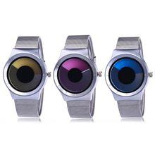 Креативные Swirl Pointerless часы светящиеся простые унисекс студенческие водонепроницаемые модные часы