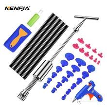 Nenfix-herramienta de eliminación de abolladuras para coche, Kit de reparación de abolladuras, extractor, martillo inverso, lengüetas de pegamento, Ventosas para Kit de granizo