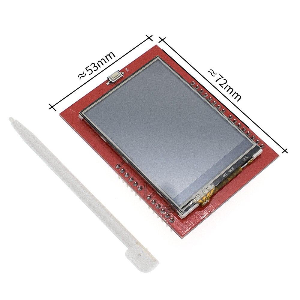 10 шт. синий/красный/черный 2,4 TFT Модуль UNO R3 макетная плата с CH340 ATMEGA328 USB кабель для Arduino - Цвет: 2.4 TFT For UNO R3