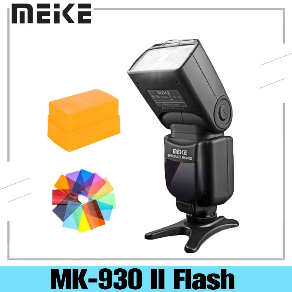Meike MK-930 II Вспышка светильник Speedlite для цифровой зеркальной камеры Nikon Canon Olympus Pentax Dslr вспышка для фотоаппарата светильник как Светодиодная ла...