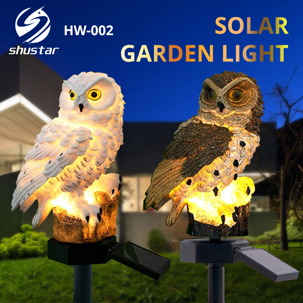 Solar Owl Garden light Outdoor Lawn Lighting Automatically lights at night Garden Villa Decorative Landscape Lamp