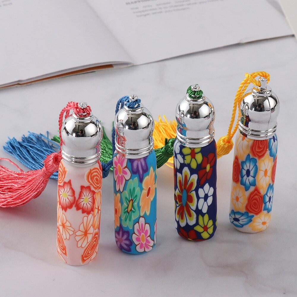 1 шт. стеклянная бутылка для духов в рулоне со стеклянным шариком, полимерный ролик для глины, бутылка для эфирного масла, много узоров