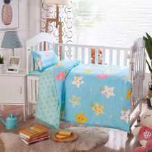 3Pcs Baby Bedding Set 100% Cotton Crib Sets Baby Cot Set with Quilt Cover Pillowcase mattress cover Children Bed Sheet Bedspread(China)
