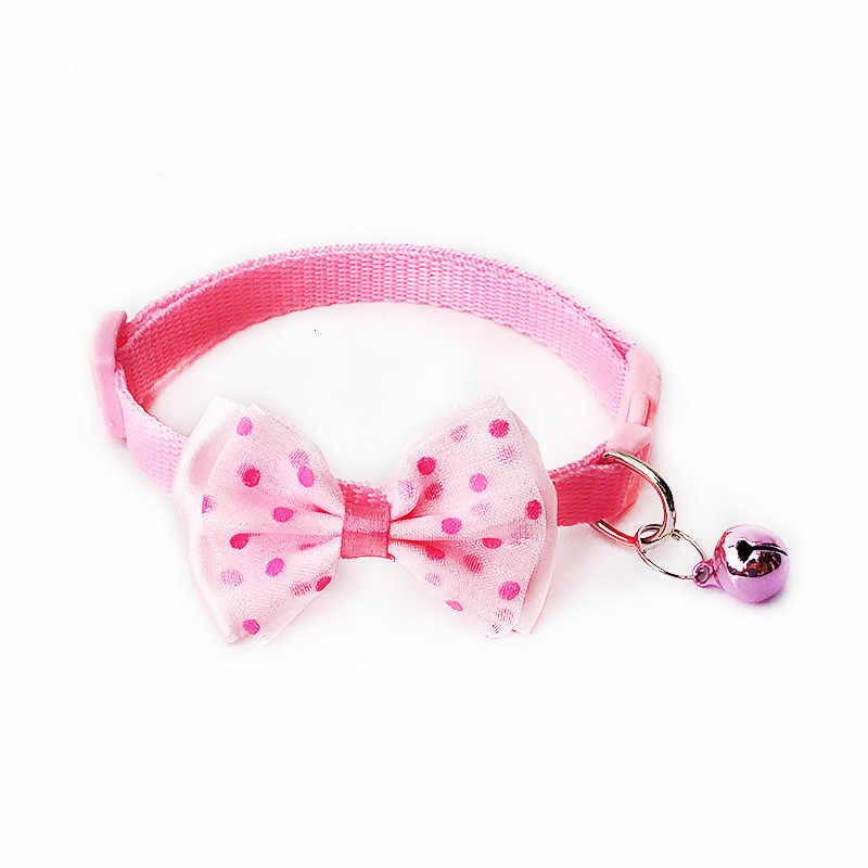 1 Pza collar ajustable para mascota cachorro y gato Nylon Collar para correa con campanas y arco diseño Festival Wearable Party Cat productos