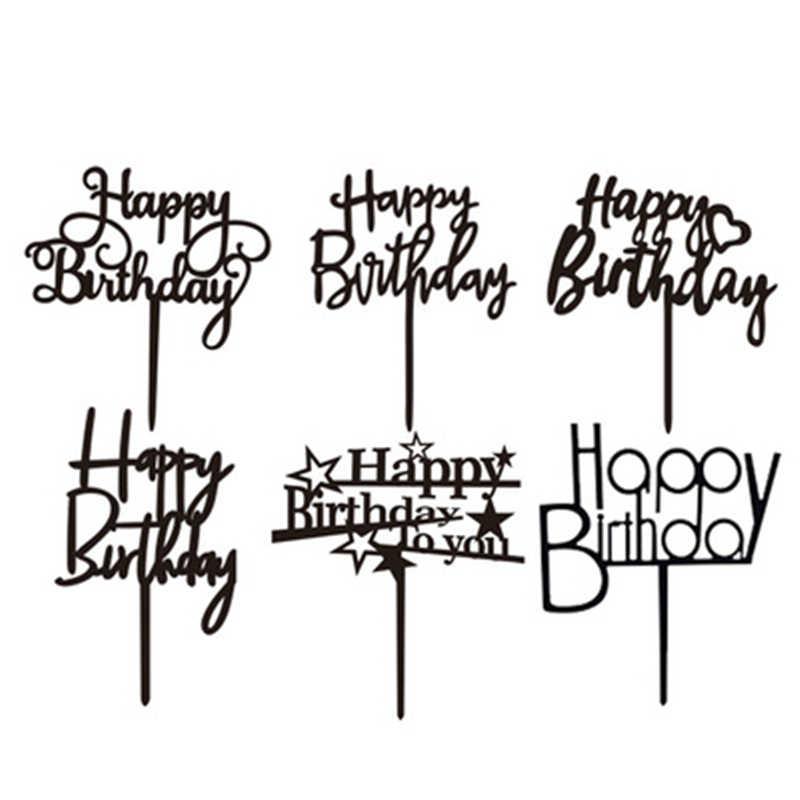 Joyeux anniversaire gâteau Topper créatif Dessert lettre gâteau décorations enfants enfants bébé garçon fille adulte fête décoration fournitures