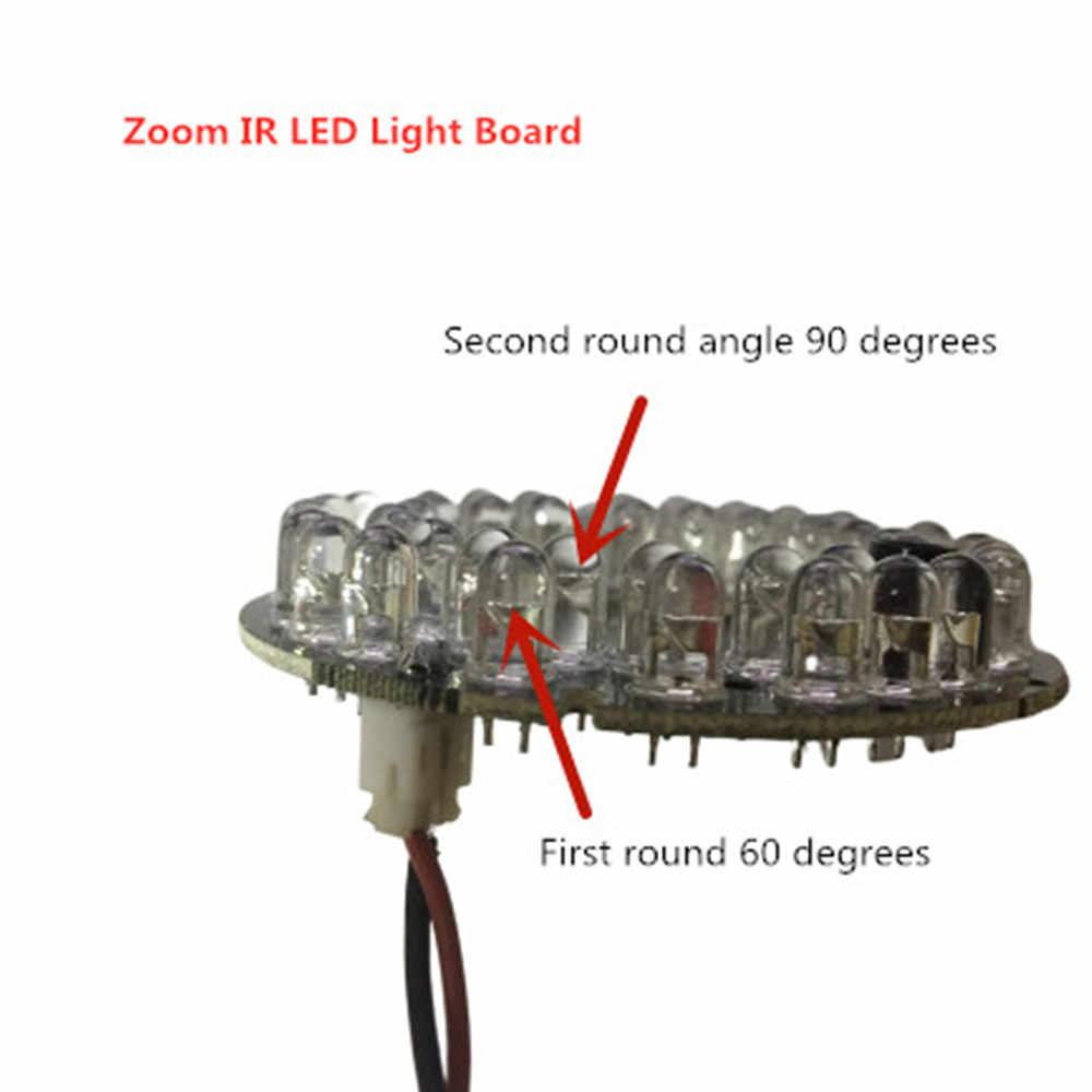 التكبير الأشعة تحت الحمراء مصباح ليد مجلس 42 المصابيح 5 مللي متر الأشعة تحت الحمراء ديود لوحة ل كاميرا الأمن مقاوم للماء 90 و 60 درجة لمبة 60 مللي متر قطر