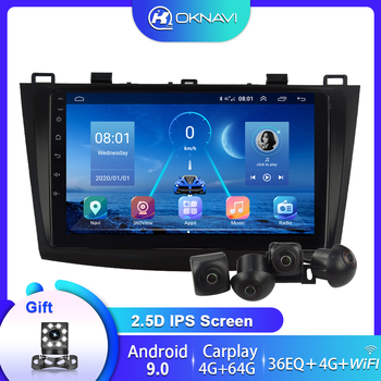 For Mazda 3 Car Radio 2004-2013 Multimedia DVD Player Multimedia GPS Navigation Stereo Android 9 Carplay 360 Panorama Autoradio image