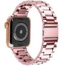 цены Stainless Steel Strap for Apple Watch band 42mm 38mm 44mm 40mm Link Bracelet metal Wrist watchband for iwatch series 4 3 2 1