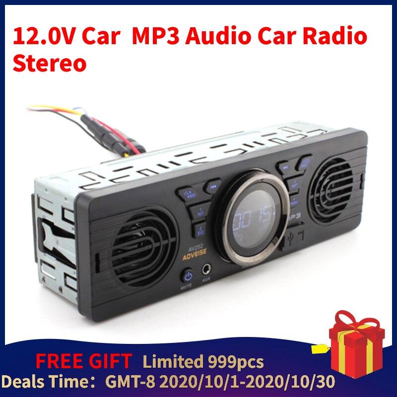 12.0v carro seguro cartão de memória digital mp3 áudio carro elétrico rádio com altifalante bt anfitrião alto-falante rádio do carro estéreo