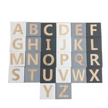 5x5x5cm branco preto cinza abc blocos de madeira alfabeto letras cubos quadrados brinquedos para crianças criança quebra-cabeça projetos foto blocos artesanato