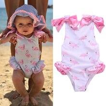 Для новорожденных милая детская одежда для малышей купальный костюм для девочек Купальник Цельный купальник бикини пляжная одежда