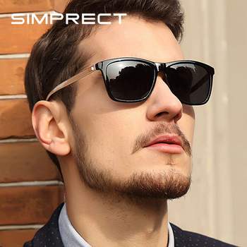 SIMPRECT Polarized Sunglasses Men 2021 UV400 Driver's Mirror Square Sunglasses Retro Vintage Anti-Glare Sun Glasses For Men
