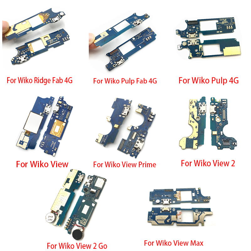 USB Power Charging Connector Plug Port Dock Flex Cable For Wiko View 2 Prime Max Go Wim Lite Tommy 2 Freddy U Pulse Pulp 4G