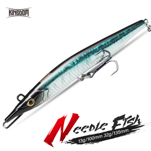 Image 1 - Kingdom 2019 Needle fish Pencil Fishing Lures 100mm 13g 135mm 32g Two Swim Action Hard Baits Sinking Lure stickbaits Wobblers