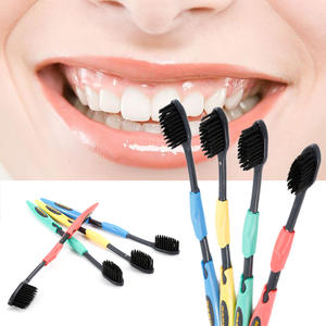 Soft Toothbrush Oral Bamboo-Charcoal Black Dental-Care Teeth-Cleaning New 1/2/4pcs