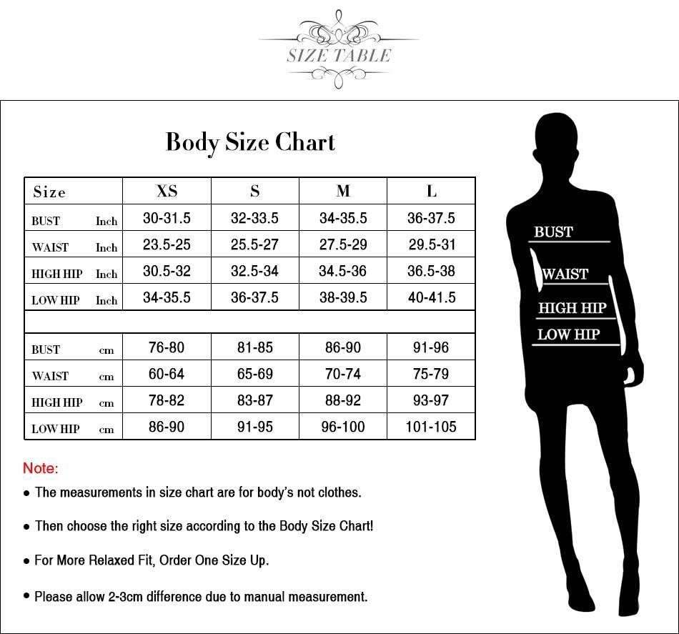body size chart (2)