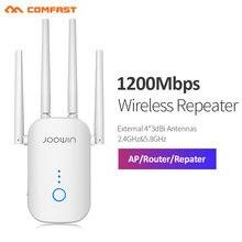 300mbps/1200mbps poderoso wifi repetidor 2.4g/5ghz extensor de longa distância wi-fi 802.11ac wlan wi-fi amplificador roteador ponto de acesso