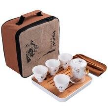 Портативный дорожный чайник кунг фу чайный набор керамический