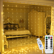3M LED Curtain Light Remote Control USB Window Fairy String Lights for New Year Christmas Decorations Home Room Garland Lamps