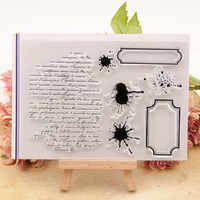 Card Making TPR Transparent Seal Handmade Gift 11*15.5cm DIY Scrapbooking Photo Album Decor Text Ink Bookmark Clear Stamps