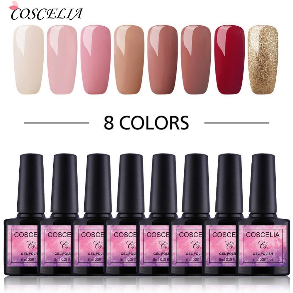 6/8PCS Gel Nail Polish Set 8ml Gel Polish Nail Kit UV Gel Set For Gel Varnish Manicure Set Uv For Nail Art Uv Gel Nail Polish