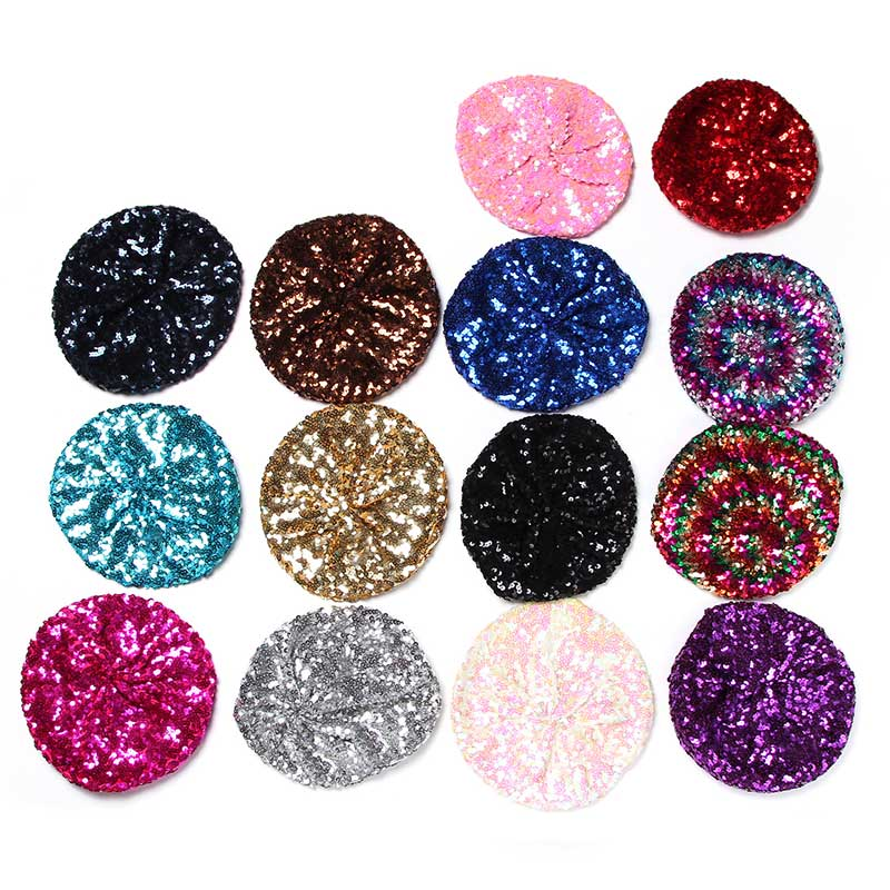 Hot Sale Trend New Sequin Beret Women Hat Night Club  Birthday Party Dance Cap Multicolor Beret Beanie Hats