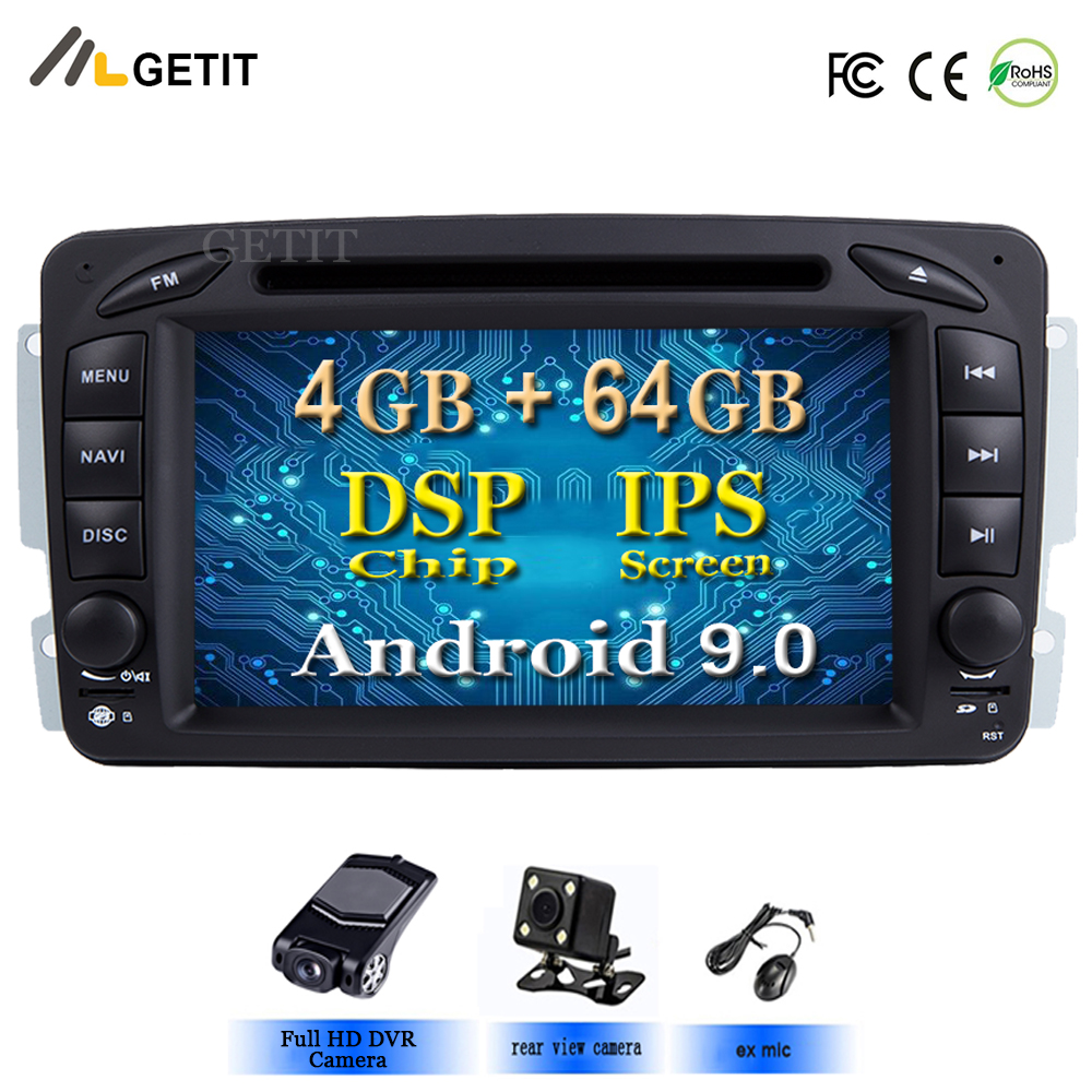 DSP Chip Android 9 0 Car Stereo Radio DVD Player for Mercedes Benz W209 W203 M