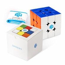 D fantix gan 356 rs 3x3 velocidade cubo stickerless gans 356r s 3x3x3 cubo mágico quebra cabeça ges v3 sistema extra bônus azul bolsa para criança