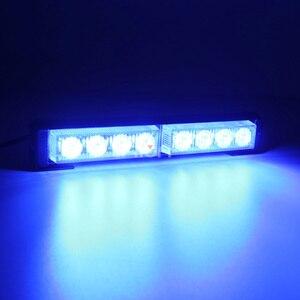 Image 5 - Car styling 8 32led assistente di emergenza per auto avviso Flash stroboscopico barra luminosa led blu semaforo di lavoro