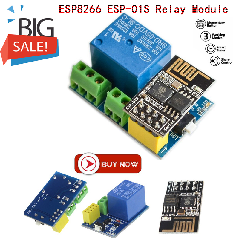 ESP8266 ESP-01S Wifi Relay Module Things Smart Home, Smart Home Remote Control Switch For Arduino Phone App Wireless Wifi Module