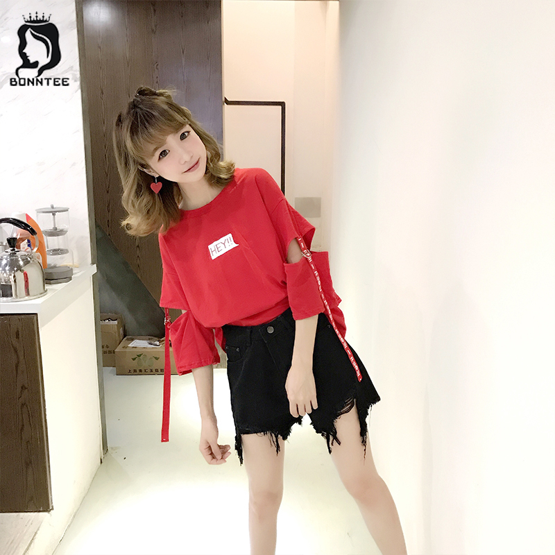 Women O-neck Summer Top Womens Casual Loose T-shirt Female Harajuku Tops Females T-shirts Students Korean Style New Fashion Girl