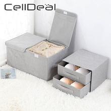 Складная двухслойная коробка для хранения органайзер бюстгальтеров