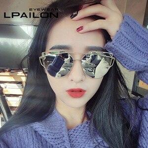 LPAILON кошачий глаз ретро маленькие Овальные Солнцезащитные очки женские винтажные брендовые оттенки черный красный металлический цвет солн...