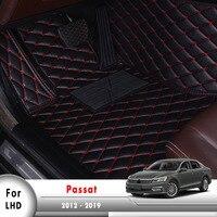 Custom Fit Carpet Auto Internal Accessories Car Floor Mats For Passat 2012 2013 2014 2015 2016 2017 2018 2019 Floor Mats     -