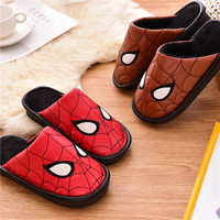 Boys Girls Home Indoor Spiderman Slippers Winter 2020 Thickened Non skid Warm Cartoon Cotton Slippers Girls Fur Slides Shoes|Slippers| |  -