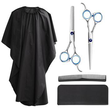 5 Pcs Professional Hair Cutting Scissors Hair Thinning Shears Barber Scissors Set Hairstyling Salon Hairdressing Scissors 4 0 5 0 5 5 japan kasho 440c professional human hair scissors hairdressing scissors cutting shears thinning scissors h1017