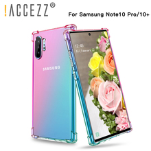 !ACCEZZ Luxury Colorful Case For Samsung Galaxy Note 10 10+ Chic Style TPU Soft Ultra-thin For Note 10 10+ Protection Back Cover ultra chic блузка