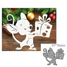 Corte de metal morre molde animal mouse decoração scrapbook papel ofício faca molde lâmina punch stencils
