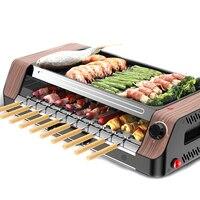 Multi funcional grill grill elétrico coreano grill automático girar máquina de churrasco não vara rotador de grelha elétrica|Grelha e chapa elétricas| |  -